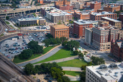 View to the Sixt Floor Museum at Dealey Plaza - Dallas - Texas - USA (R.Smrekar-CH) Tags: smrekar tiltshift usa uri texas airview d750 city 000100
