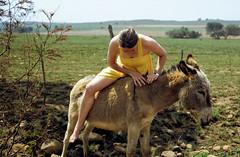 197? nikki vicky 02 (francois f swanepoel) Tags: canon nikki donkey canona1 vicky slidescans