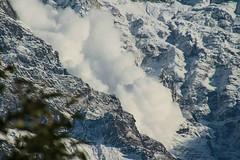 Avalanche (Mabacam) Tags: nepal mountain snow rock annapurna himalayas avalanche mountainrange 2015 annapurnasouth annapurnahimal