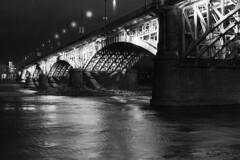 Poniatowski Bridge - Warszawa (Analog World Thru My Lenses) Tags: bridge night warsaw warszawa poniatowski rikenon50mmf14 ricohxr7 rolleirpx400