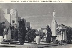 Court of the Moon - 1939 Golden Gate International Exposition - San Francisco, California (The Cardboard America Archives) Tags: sanfrancisco california vintage postcard exposition 1939 worldsfair
