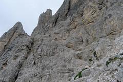 Podejście na przełęcz Forc. Camoscio (w drodze na Paternkofel)