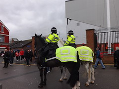 Police Horses (lcfcian1) Tags: city uk england sport liverpool football stadium leicester ground premier league kop premiership mountedpolice anfield lfc liverpoolfc premierleague lcfc policehorses liverpoolanfield liverpoolvleicester