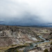 Hot Creek Geological Site on a stormy spring day