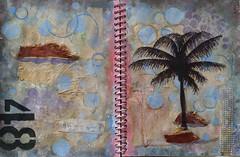 Sunday ({ k2 }) Tags: collage mixedmedia bark palmtree alteredbook 48
