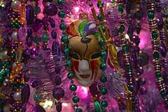 The Swan Mask (BKHagar *Kim*) Tags: christmas tree green gold beads swan purple mask jester fleurdelis bkhagar