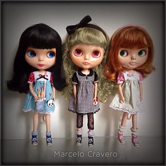Goldie, Margo & Kozy. #ブライス #blythe #cravero #top3