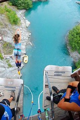 """Second #bungeejumping at the #Kawaraubridge in Queenstown, New Zealand. #itravelanddance March 2010 • <a style=""""font-size:0.8em;"""" href=""""http://www.flickr.com/photos/147943715@N05/29531248503/"""" target=""""_blank"""">View on Flickr</a>"""