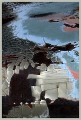 hoodscape [2] (oldogs) Tags: car auto automobile hood carhood peelingpaint abstract texture t6s cracked crack