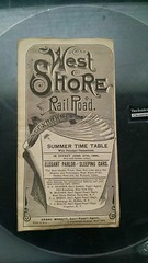 1886 West Shore Railroad System Timetable (CNYrailroadnut) Tags: west shore railroad rr ws rail timetable new york central