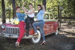 Rosie Power (Linda O'Donnell) Tags: rosietheriveter models 1940s redbandana glamour redlipstick worldwarii wwii vintagevehicles wecandoit pinup lindanjo6 lindaodonnell