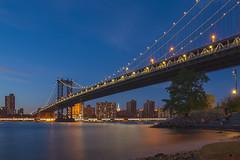 Manhattan Bridge Overpass (Joits) Tags: newyork manhattan brooklyn manhattanbridge dumbo bluehour sigma24mmf14art longexposure brooklynbridgepark