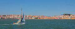 On the Way to Lisbon (Cloudwhisperer67) Tags: portugal bay harbour boat boats blue green amazing view summer 2016 wonderful place cloudwhisperer67 lisboa lisbon lisbonne waterscape city travel trip town cityscape europe europa cloudwhisperer dream canon urban journey photography sea 760d 760 panorama sailing sail way sky bleu beautiful tagus tajo tage