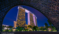 marina bay sands hotel in one eye. (jaywu429) Tags: sony singapore sonya7r sky skyline sonycamera sony1635mmf4 landscape cityscape nightshot nightscape marinabay marinabaysandshotel lights explore inexplore
