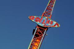 DSC02250 (A Parton Photography) Tags: fairground rides spinning longexposure miltonkeynes fireworks bonfire november cold
