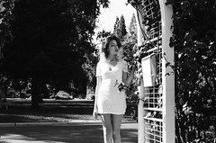 (Benz Doctolero) Tags: canon t50 50mm black white bw girls sacramento california kodak trix 400 film monochrome trees vegetation