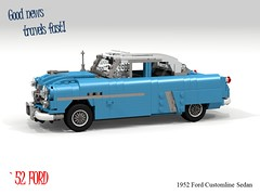 Ford 1952 Customline Sedan (lego911) Tags: ford 1952 customline sedan saloon 1950s classic motor company auto car moc model miniland lego lego911 ldd render cad povray lugnuts 59 niftyfiftiesdaddyo 108 lugnutsturnsnine turns nine nifty fifties daddyo usa america chrome foitsop