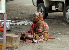 Old Street Loiterer (cowyeow) Tags: dirt road sad poverty asia asian rural maharashtra india indian travel southasia street candid people loiter loitering lady old poor oldlady woman dirty