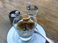 8287 Panna Cotta dessert (Andy - Busyyyyyyyyy) Tags: 20161110 bhday13 broughholiday fig ggg glass harome macadamia mmm nuts pannacotta ppp saucer sorbet spoon sss thepheasantinn water www yorkshire