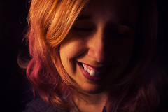 Day 56 (Esme on Plum Island) Tags: me face redhair lowlight lowlit justme myface