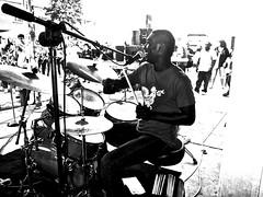 drums ~ watch: (Shein Die) Tags: drums blackandwhite bw cedricburnside rlburnside festival candid streetphotography streetscene mono