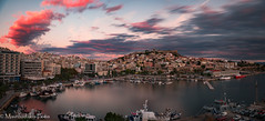 Dramatic sky over the city (Mavroudakis Fotis) Tags: symbol past early nature island city sky evening vacation mountain house holiday sea medieval antique historic beauty harbor europe typical traditional culture path tourism travel old panorama village europa ancient fort history light outdoor home place morning coastline water urban night town abstract seaside cityscape buildings historical landmark river landscape coast mountains beach destination abandoned accommodation riviera photography background dusk pirates twilight greece kavala mediterranean aegean macedoniagreece