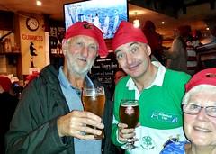"France,  Bayonne -  Martyn Hathaway, Mike & Geraldine Norrington in Katie Daly's Irish Bar (Biffo1944) Tags: france pyrénéesatlantiques bayonne ""martyn hathaway"" ""mike norrington"" ""geraldine norrington"" ""katie dalys"" ""irish bar"" ""place de la liberté"" 20161014221732"