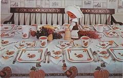 An American Greetings Thanksgiving - circa 1960s (hmdavid) Tags: vintage postcard partymaid americangreetings thanksgiving table setting party dinner paper 1960s