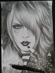 Bidoh (Giovana Draw/ ) Tags: draw black white grey portrait illustration jrock visual kei bidoh grafite graphite