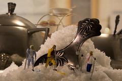 Sugar Snow (jopperbok) Tags: jopperbok littlepeople little leisure sport sports langlauf ski skiing crosscountryskiing sugar spoon spoons kitchen kitchenutensils flickrlounge saterday theme white metal pewter figures figure fooddrinks miniature miniaturefigure miniaturefigures miniaturefiguresphotography mini tea food