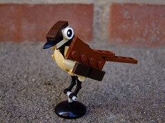 Tiny Sparrow (Djokson) Tags: bird brown black lego moc djokson house sparrow toy