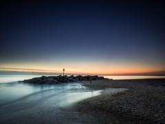 Hurst Sunset (Richard Walker Photography) Tags: beach beautiful bluesky coast coastal coastline dusk evening goldenhour landscape landscapephotography longexposure lymington nature october seafront seascape seaside shoreline sunset unitedkingdom water