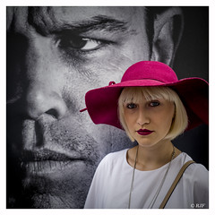 L1100756 (robert.french57) Tags: d62 london fashion week september 2016 hat red people bob robert french 57 leica q white lips strap face