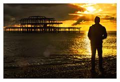 -###-  - (Howard Sandford) Tags: beach sea clouds silhouette settingsun backlight brighton westpier sunset