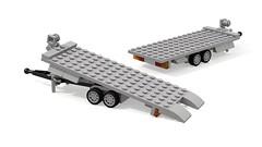 Anhnger Fahrzeugtransport (Vehicle transport trailer) 1.1 (-Nightfall-) Tags: moc trailer car