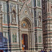The Facade of Cattedrale di Santa Maria del Fiore (Cathedral of Saint Mary of the Flowers}, Florence
