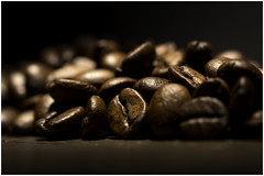 Macro Mondays - My Daily Routine - Coffee (In Explore 08 Nov 2016) (andymoore732) Tags: macromondays macro mondays mydailyroutine coffee coffeebeans contrast black golden brown bowenslighting flash honeycombgrid andymoore colour nikon d500 afs vr micronikkor 105mm f28gifed challenge theme flickr