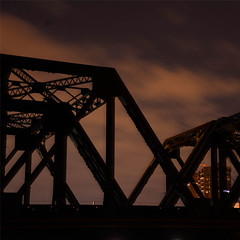 stoale_p4_s3 (samanthatoalephotography) Tags: weather industrial night nightsky clouds stars bridge