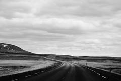 KLIS4162_S (Konrad Lembcke) Tags: island iceland rural road landscape emptiness laugarvatnsvegur travel landschaft minimal black white abstract monochrome fuji x nature simple