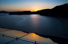 Reflection of a sunset (Ineke Struk) Tags: sunset reflection water ocean ship