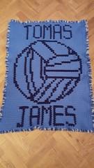 Dublin GAA blanket for Tomas (dochol) Tags: blanket babyblanket afghan manta gaafootball dublingaa crafts cute chart graph handmade homemade personalised name alphabet crochet croche haakwerk haakenwert crochethook wool yarn