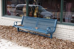 IMGP3579 (Ashurban1pal) Tags: windows benches leaves storefronts sidewalks seasons fallandautumn