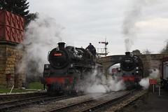 Goathland (feroequineologist) Tags: 76038 76079 76084 railway train steam northyorkshiremoorsrailway nymr nym goathland