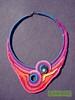 [Colar] C #92 (*kathamina) Tags: crochet crochetjewelry freeform freeformcrochet necklace colar handmade kawool ooak fiber