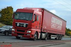 MAN TGX 'Continental Cargo Carries' reg JK4 0014 (CZ) (erfmike51) Tags: mantgx artic curtainside truck lorry continentalcargocarriers