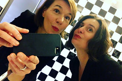 Presenting mode! (domit) Tags: antwerp preview holland netherlands theoffice an domit selfie smile red lips kisses