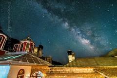 | Celestial path (iatroud) Tags: iatroud nikon tokina 1116mm monastery galaxy milkyway milky church mount athos orthodox night stars sky path spiritual grigoriou greece