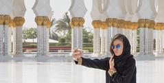 Selfie (Robert Haandrikman) Tags: sheikh zayed grand mosque abu dhabi middle east uae selfie woman beautiful