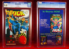 2001 THE TICK COLOR NUMBER 4 (vsndesigns) Tags: the tick pencil indie shocker gbjr toys with tie and tshirt zombie in a steel box fox promotional totally kids magazine 45 club spoon taco bell meal commercial eli stone ben edlund little wooden boy comic book merchandise rare limited edition 80s 90s collector museum naked super hero heroine funny comedy tv color thetick indoor surreal cartoon coffee mug ceramic cup black blue text poster illustration collection sketch cover white necpress