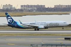 "N248AK | Boeing 737-990ER | Alaska Airlines ""Boeing 100 years strong"" (cv880m) Tags: newyork kennedy jfk kjfk n248ak boeing 737 737900 739 737990 asa alaska alaskaairlines eskimo special boeing100yearsstrong takeoff rotate proudlyallboeing"